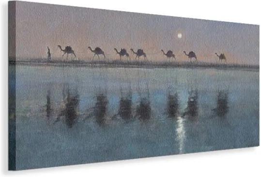 Vászonkép Tevék a folyónál Sanders Jonathan 100x50cm WDC42609