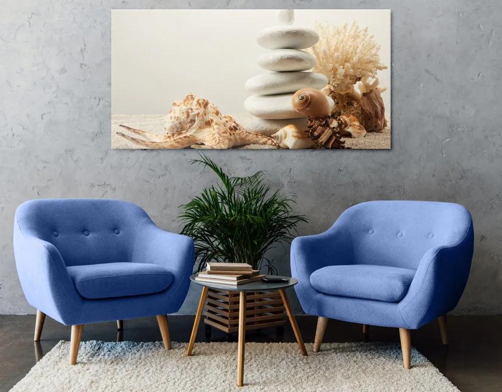 Kép a Zen kő és kagylók