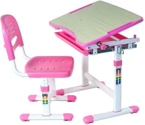 FUN DESK PICCOLINO Gyerek íróasztal székkel - rózsaszín