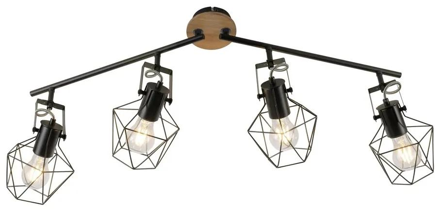 Leuchten Direkt Leuchten Direkt 15674-78 - Spotlámpa JARO 4xE27/60W/230V W1467