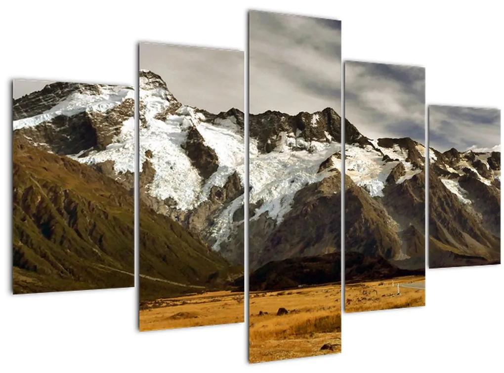 Mount Sefton, Új-Zéland képe (150x105 cm)