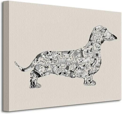 Vászonkép Rejtélyes tacskó kutyus Tate Louise 40x30cm WDC92352