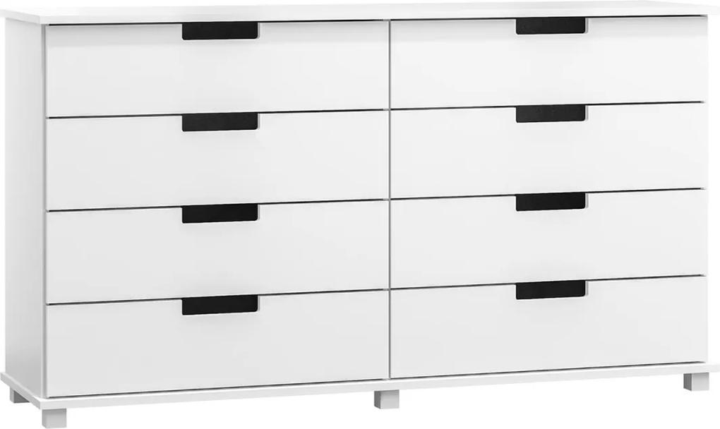 AMI butorok Komoda Modern bílá 160x80x47 cm