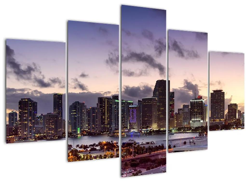 Kép - nagy város felhőkarcolói (150x105 cm)
