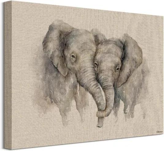 Vászonkép Szerelmes elefántok Bannon Jane 40x30cm WDC92978