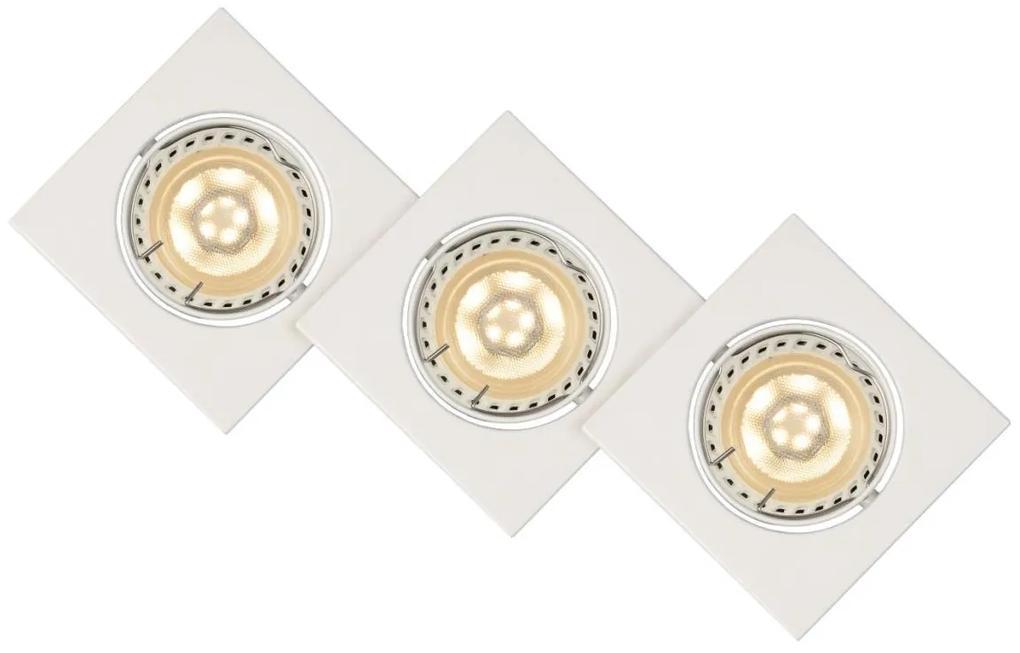 Lucide Lucide 11002/15/31 - Készlet 3x LED beépíthető lámpa FOCUS 3xGU10/5W/230V fehér LC1085