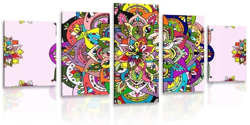 5 részes kép színes Mandala