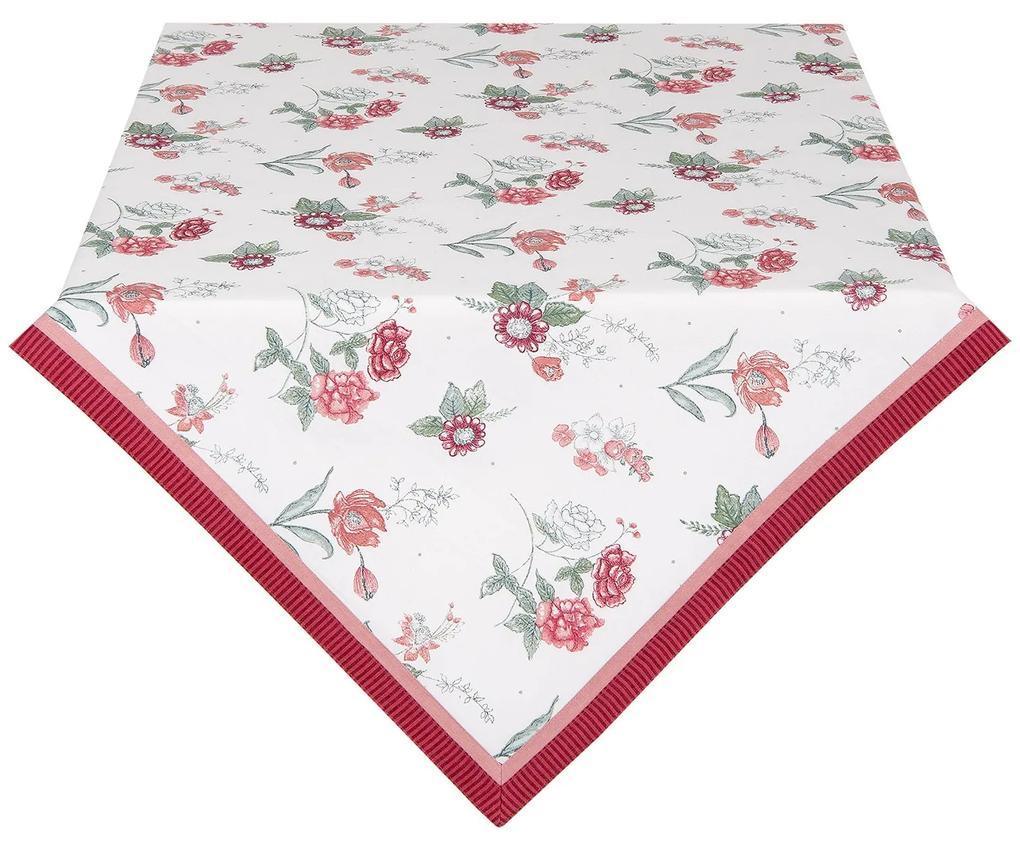 Nyári asztalterítő piros virágos 150*250 cm