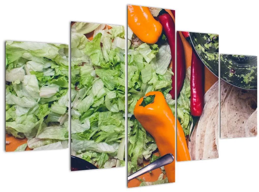 Zöldségek képe (150x105 cm)