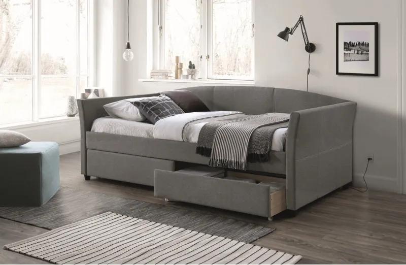 Kárpitozott ágy LANTA 90 x 200 cm szürke