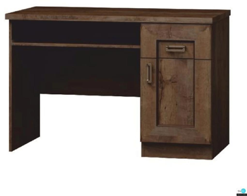 Számítógépasztal, tölgyfa lefkas, TEDY TYP T19