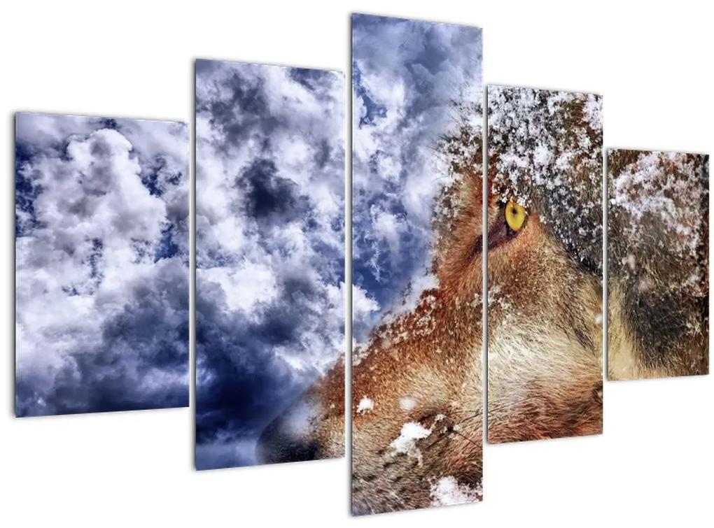 A farkas képe (150x105 cm)