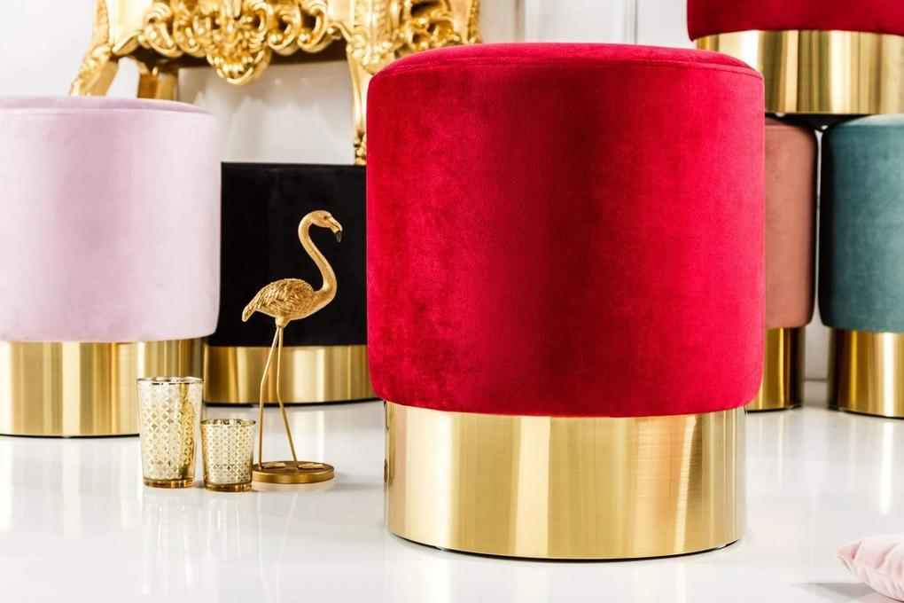 MODERN BAROCK piros és arany puff 35cm