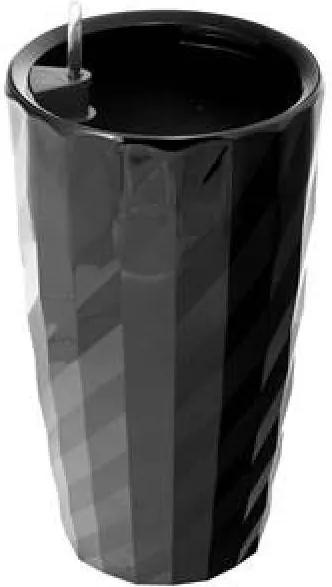 G21 önöntöző kaspó Diamant 57 cm, fekete - (639253)