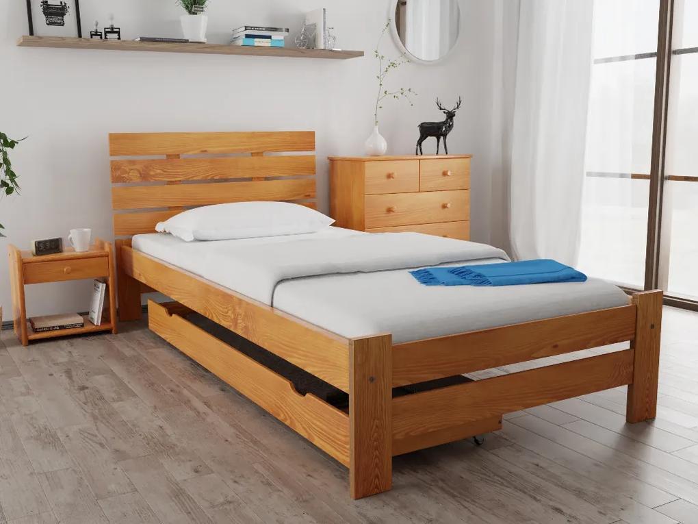 Magnat NANCY ágy 80x200 cm, égerfa Ágyrács: Ágyrács nélkül, Matrac: matrac nélkül