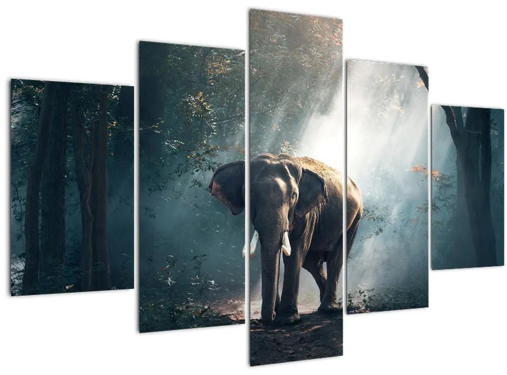 Elefánt a dzsungelben képe (150x105 cm)