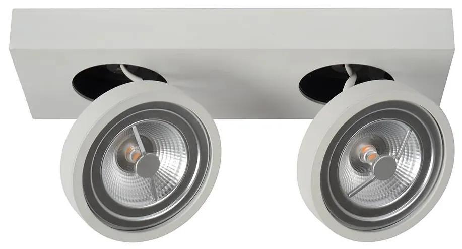 Lucide Lucide 09920/20/31 - LED Dimmelhető spotlámpa NENAD AR111 2xG53/10W/230V LC2439