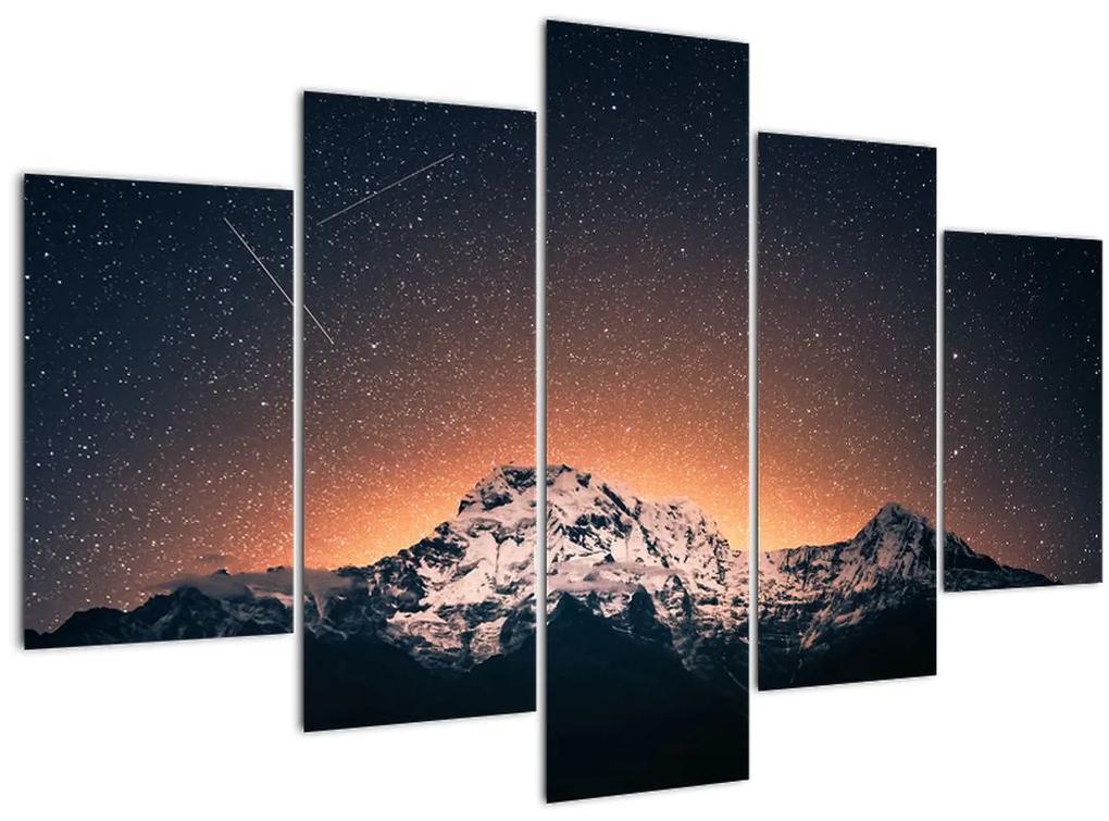 A csillagos ég, a hegyekkel képe (150x105 cm)