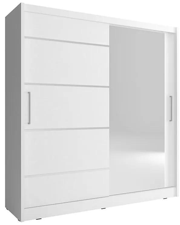 NANA 1 ALU ruhásszekrény, 180x200x62 cm, fehér