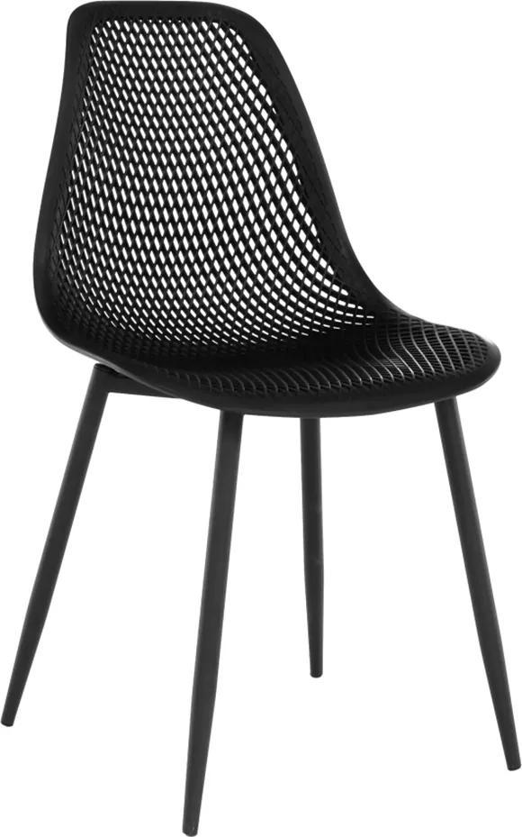 Étkező szék, fekete TEGRA