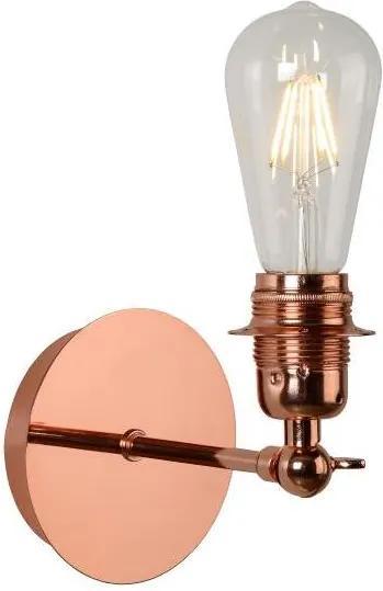 Lucide Lucide 08223/01/17 - LED fali lámpa RETRO 1xE27/5W/230V réz LC0736