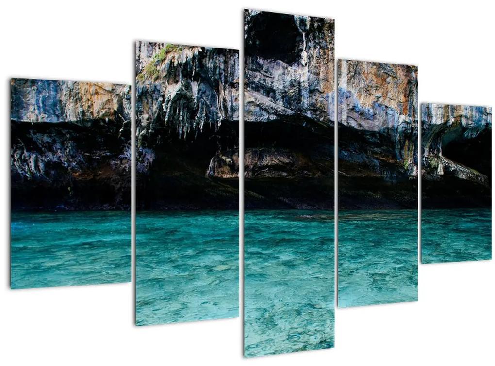 A víz és a sziklák képe (150x105 cm)