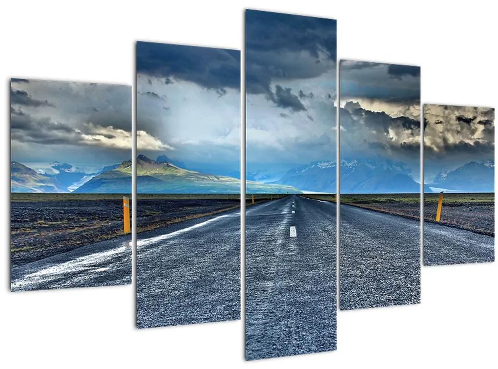 Kép egy viharról az úton (150x105 cm)