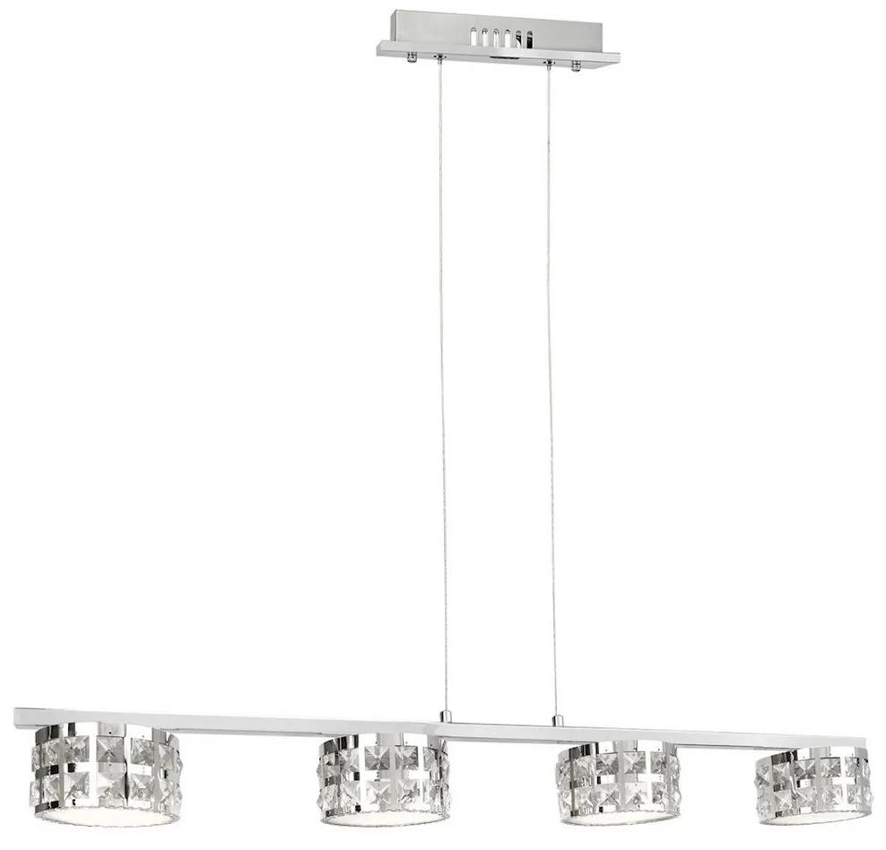 Milagro LED kristály csillár zsinóron ALEX 4xLED/20W/230V MI0884