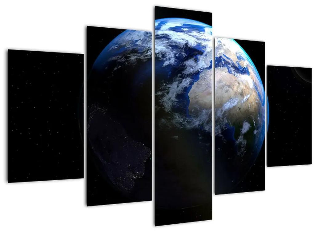 Föld és a Hold képe (150x105 cm)