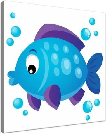 Vászonkép Kék halacska 30x30cm 3093A_1AI