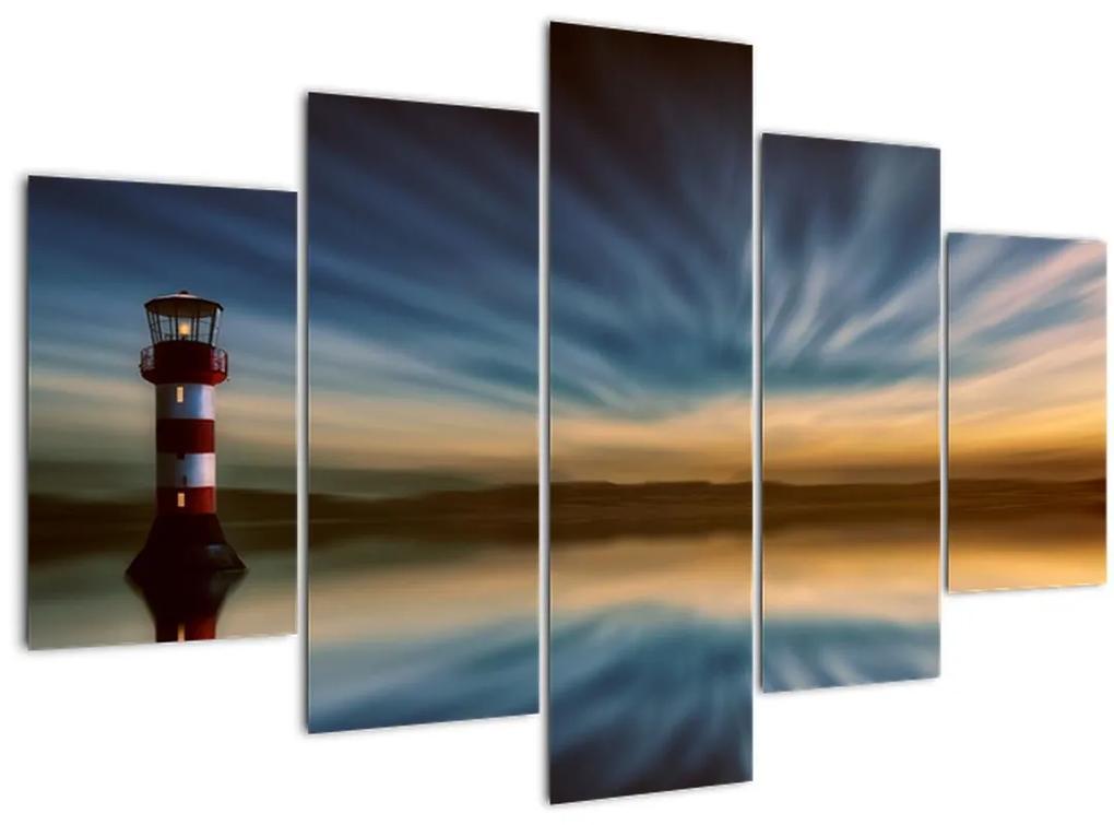 Világítótorony a tengeren (150x105 cm)