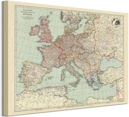 Vászonkép Stanfords Európa térképe 1928 50x40cm WDC94820