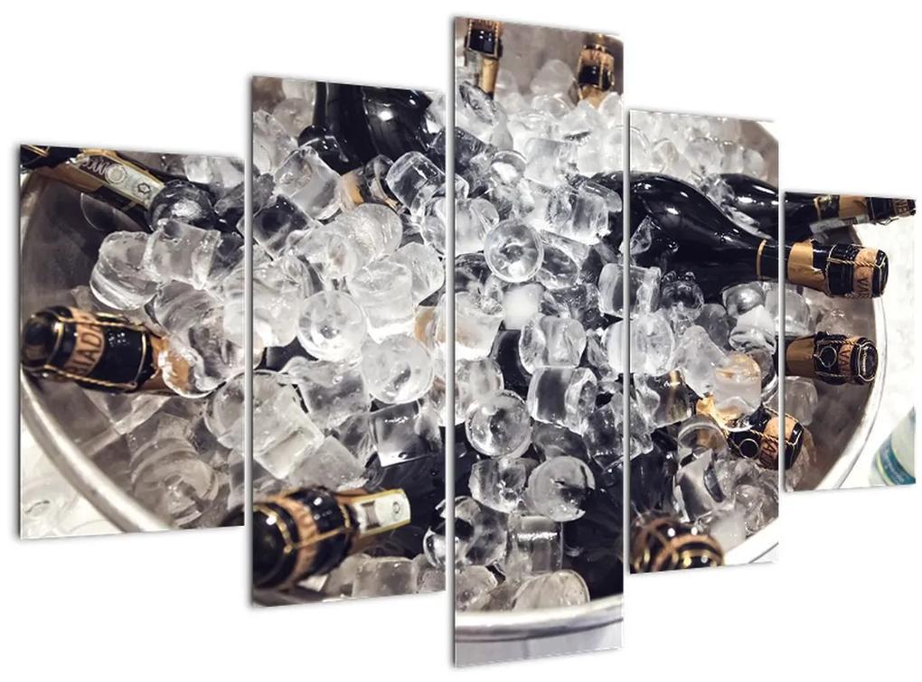 Kép - pezsgő a jégben (150x105 cm)