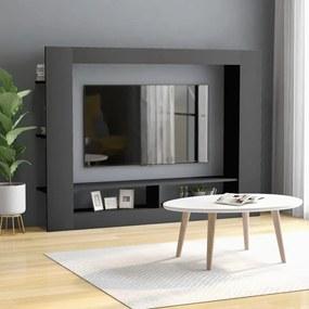 vidaXL szürke forgácslap TV-szekrény 152 x 22 x 113 cm