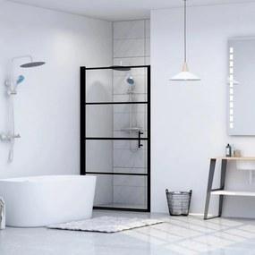 Fekete edzett üveg zuhanyajtó 100 x 178 cm