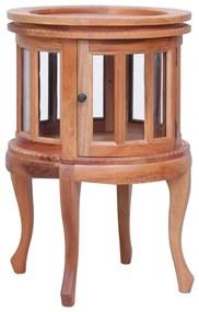 vidaXL természetes színű tömör mahagóni vitrinszekrény 50 x 50 x 76 cm