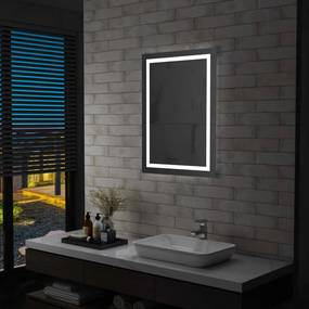 vidaXL LED-es fürdőszobai tükör érintésérzékelővel 60 x 80 cm