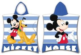 Mickey stripe gyerek poncsó, 50 x 115 cm