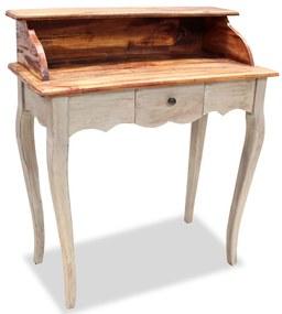 vidaXL tömör újrahasznosított fa íróasztal 80 x 40 x 92 cm