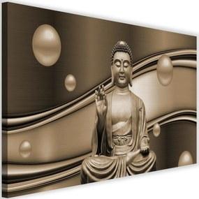 Modern kép 120x80cm – The Meditator Buddha On Abstract Background 4