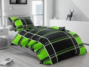 Kubismo zöld pamut ágyneműhuzat