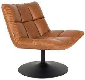 Bar pihenőszék, vintage barna textilbőr