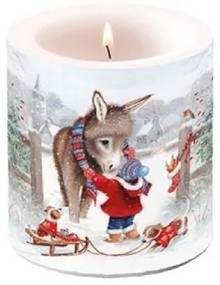 Karácsonyi átvilágítós gyertya Keeping Warm 8x7,5cm