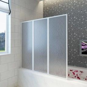 vidaXL Zuhany kádparaván Fal 117 x 120 cm 3 panelek összecsukható