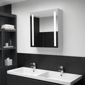 vidaXL tükrös fürdőszobaszekrény LED világítással 62 x 14 x 60 cm