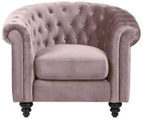 Luxus fotel Ninetta - világos rózsaszín