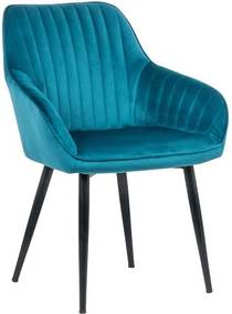 Stílusos szék Esmeralda türkizkék