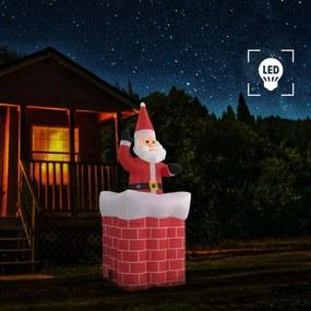 Önmozgó karácsonyi mikulás kéményben led-del ip44 180 cm