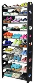 Botis 5 cipőtartó, fekete, 154 cm