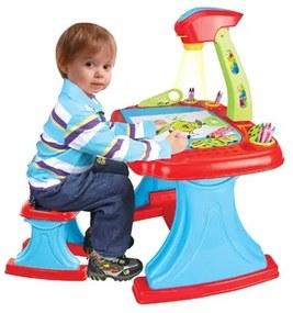 BAYO | Nem besorolt | Gyermek kétoldalas tábla projektorral és székkel Bayo + 93 db tartalék | Kék |